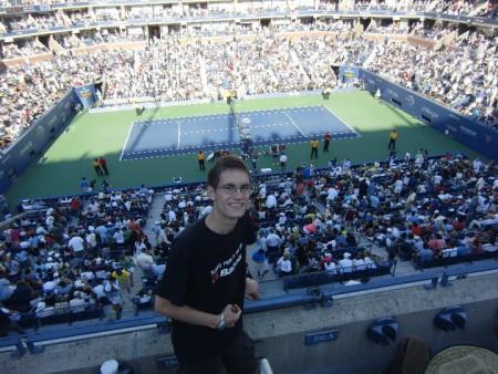Achtelfinale der US Open 2010, u.a. mit dem Match Federer vs. Melzer (c) Rechenmacher