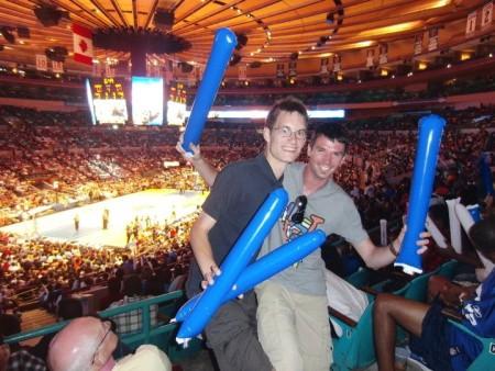 Im Madison Square Garden bei einem WNBA-Spiel der New York Liberty 2010 (c) Rechenmacher
